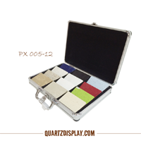 Aluminum Stone Sample Suitcase