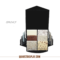 Rotary Acylic Tabletop Stone Display