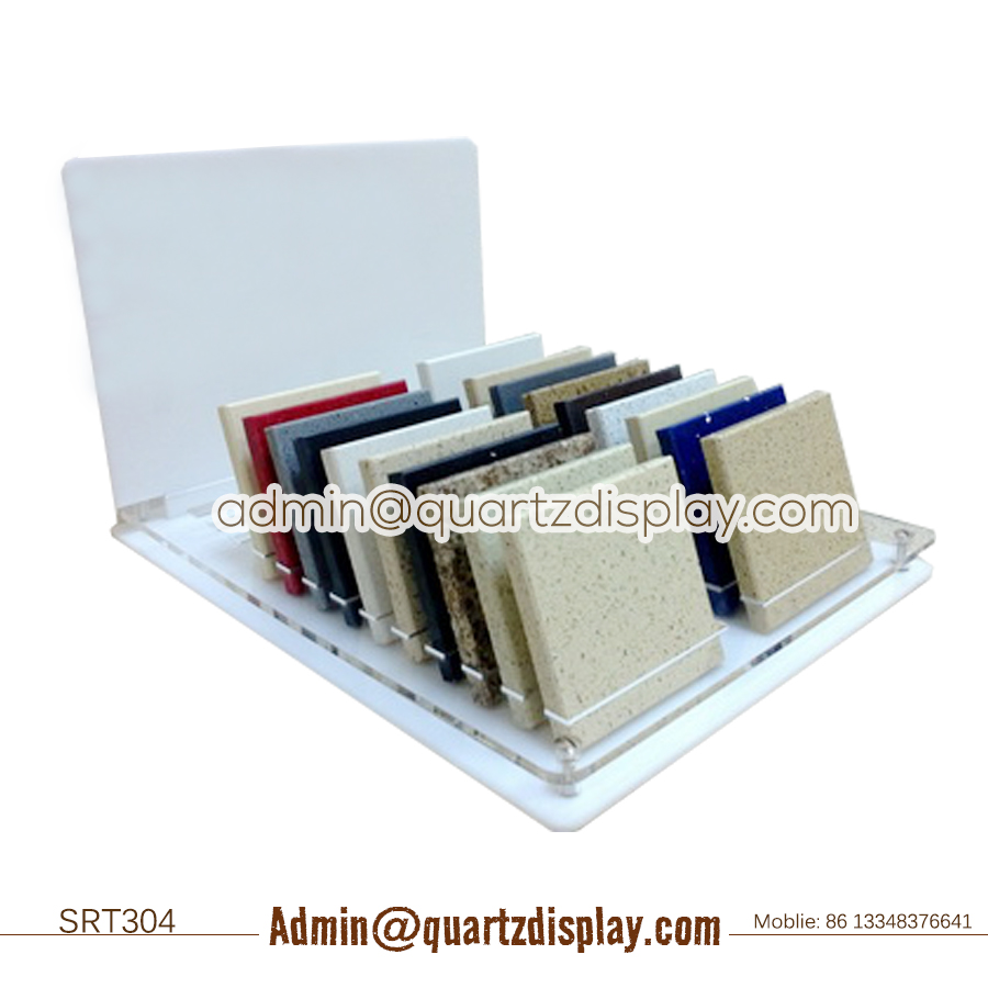 Acrylic Solid Surface Tile Counter Display