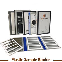Plastic Stone Sample Binder